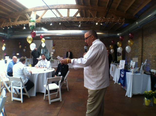 Master of Ceremonies, Chef Andre David Halston addresses the audience.