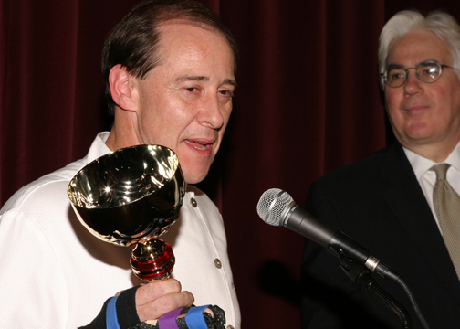 Chef Bradley Ogden with Master of Ceremonies John Mariani