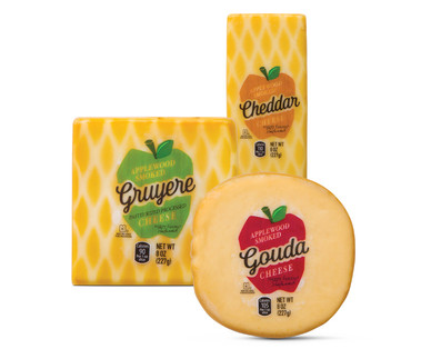 Applewood smoked cheeses