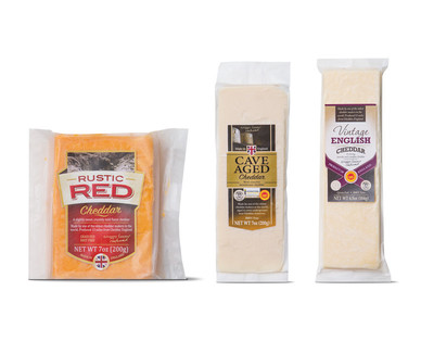rustic red-cave aged-vintage english cheddar