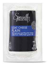 specially selected goat cheese log hand-rolled