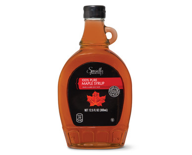 specially selected maple syrup