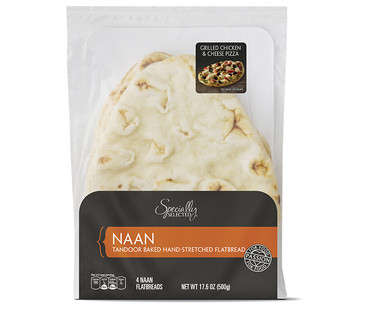 specially selected naan bread